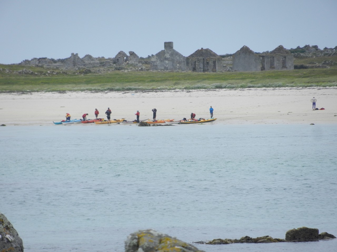 Beach and abandoned village on Mason Island
